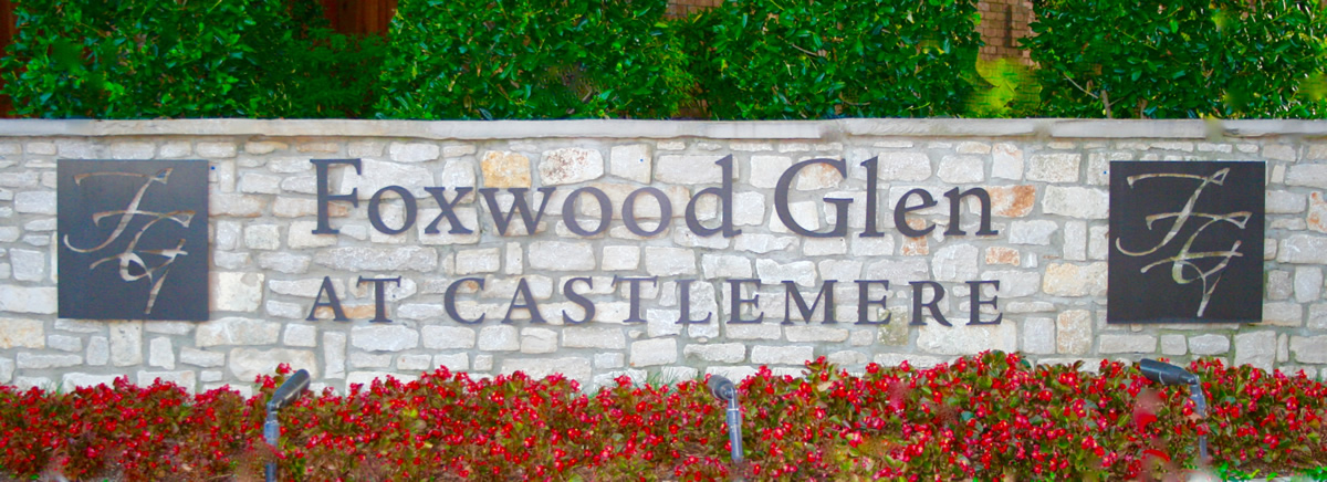 Foxwood Glen Entry Sign